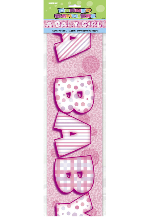 A Baby Girl Foil Banner