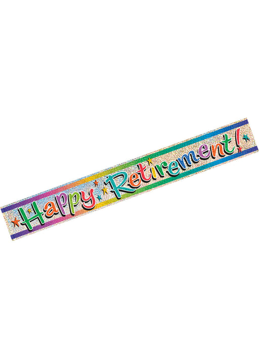 Happy Retirement Foil Banner