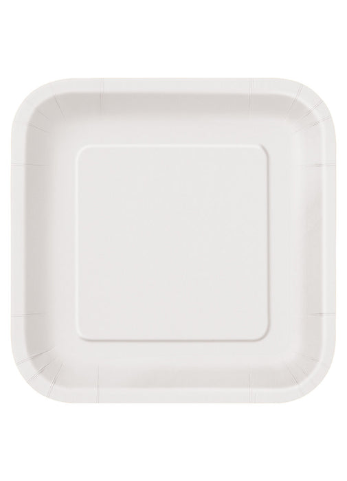 White Party Square Paper Plates 14pk  sc 1 st  Party Britain & White Party Square Paper Plates 14pk u2014 Party Britain