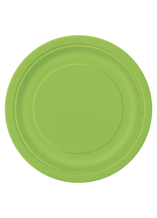 Lime Green Party Plates 16pk