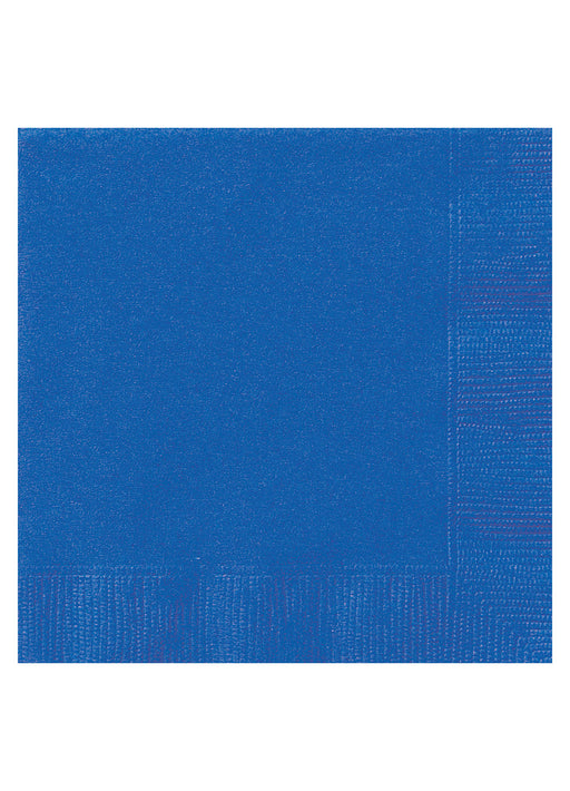 Royal Blue Party Paper Napkins 20pk