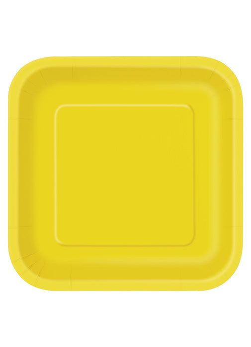 Yellow Party Square Paper Plates 14pk  sc 1 st  Party Britain & Yellow Party Square Paper Plates 14pk \u2014 Party Britain
