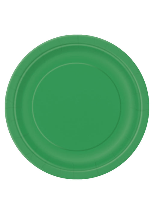 Green Party Round Paper Plates 16pk
