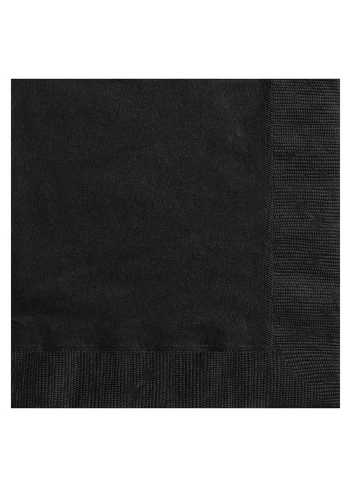 Black Party Paper Napkins 20pk