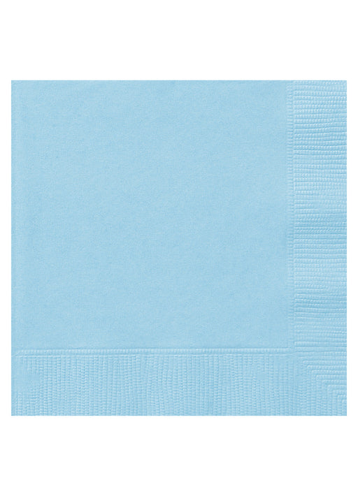 Powder Blue Party Paper Napkins 20pk
