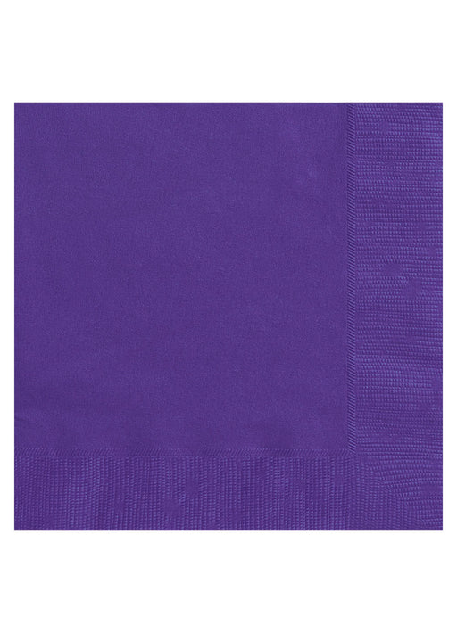 Purple Party Paper Napkins 20pk