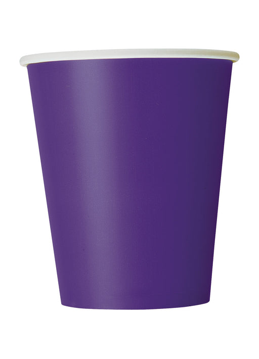 Purple Party Paper Cups 14pk