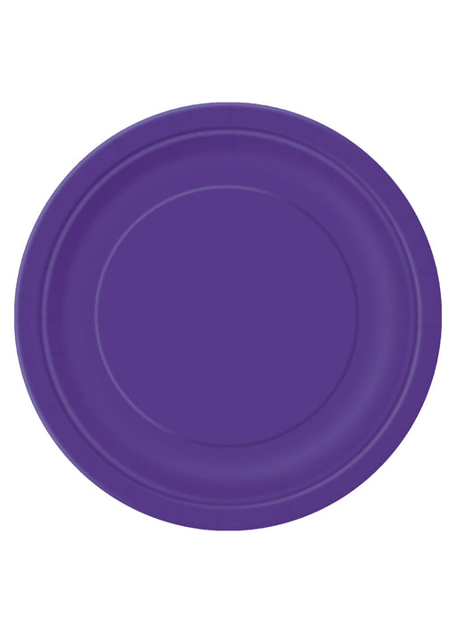 Purple Party Round Paper Plates 16pk