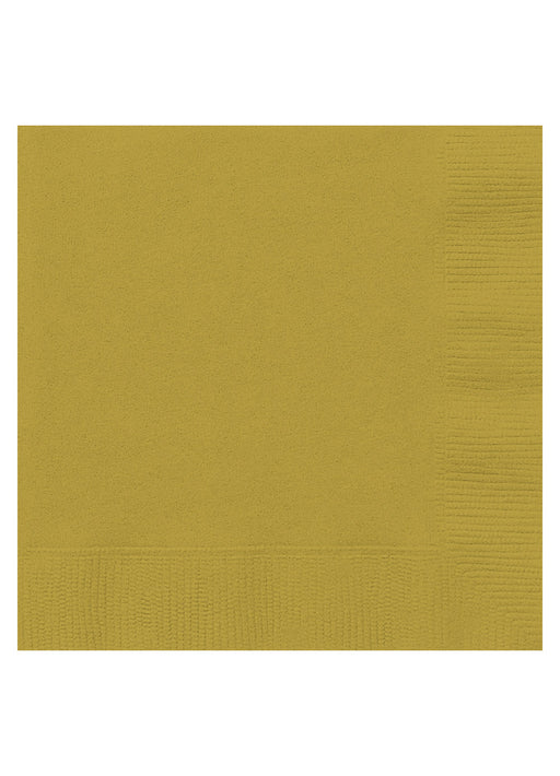 Gold Party Paper Napkins 20pk