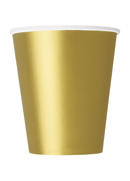 Gold Party Paper Cups 14pk