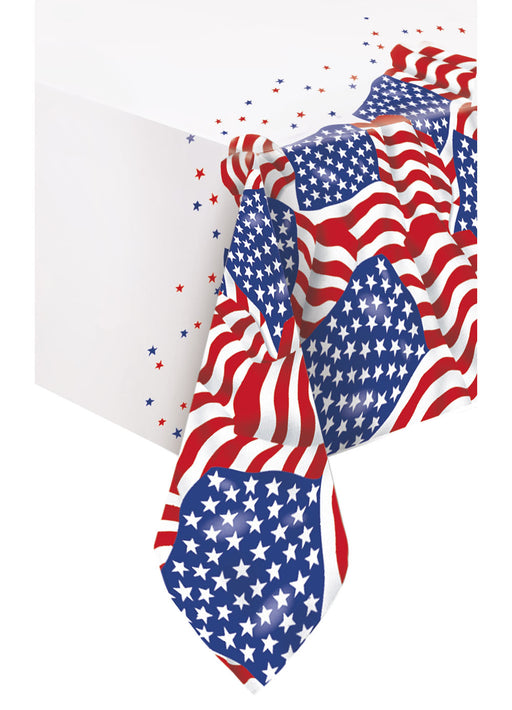 American Flag Tablecover