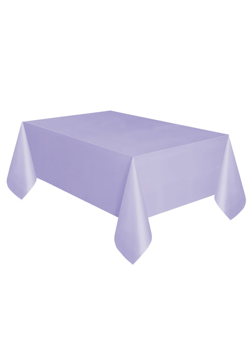 Lavender Party Plastic Tablecover