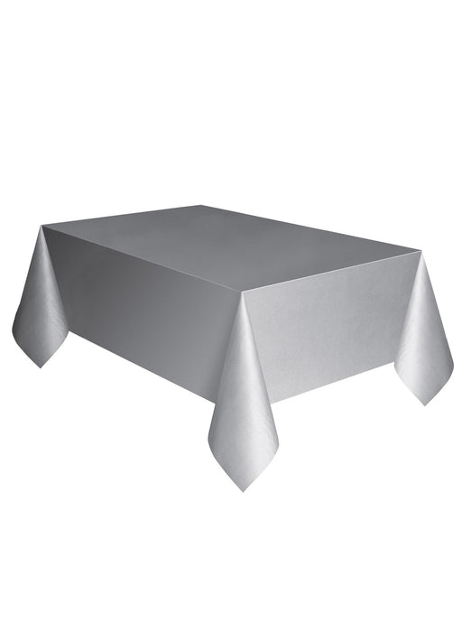 Silver Party Plastic Tablecover