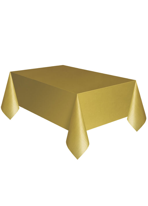 Gold Party Plastic Tablecover