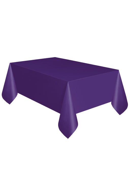 Purple Party Plastic Tablecover