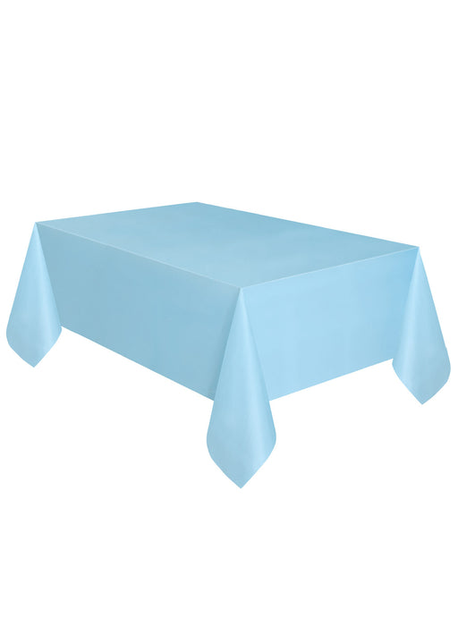 Powder Blue Party Plastic Tablecover