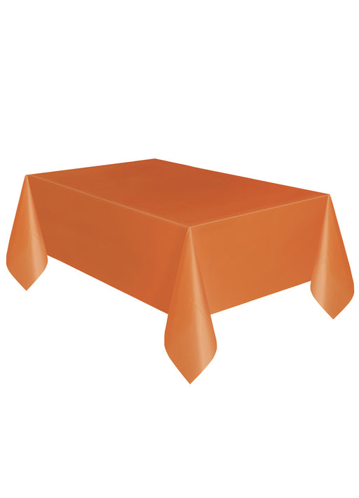 Orange Party Plastic Tablecover