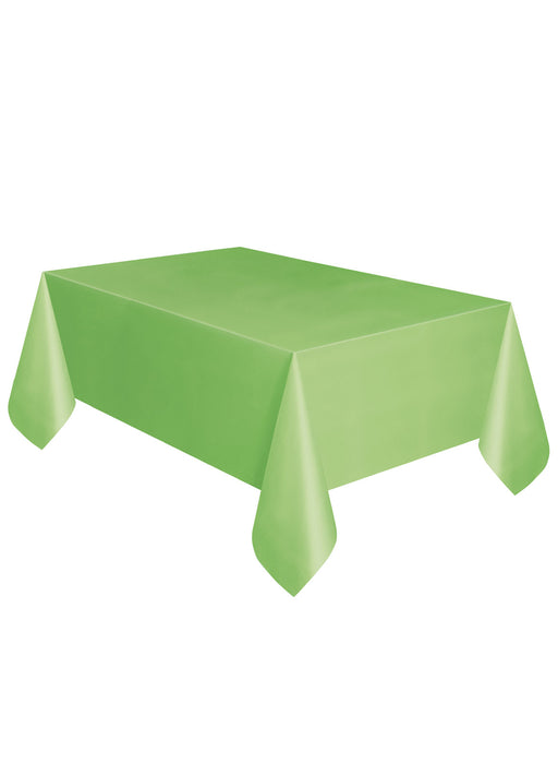 Lime Green Party Plastic Tablecover