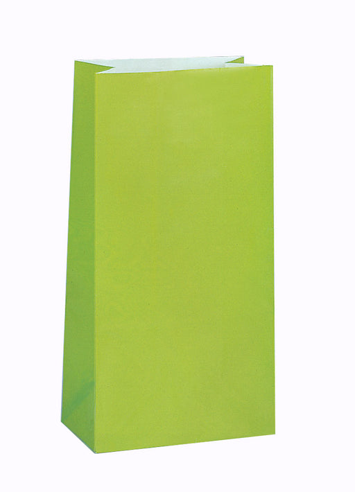 Lime Green Party Bags 12pk