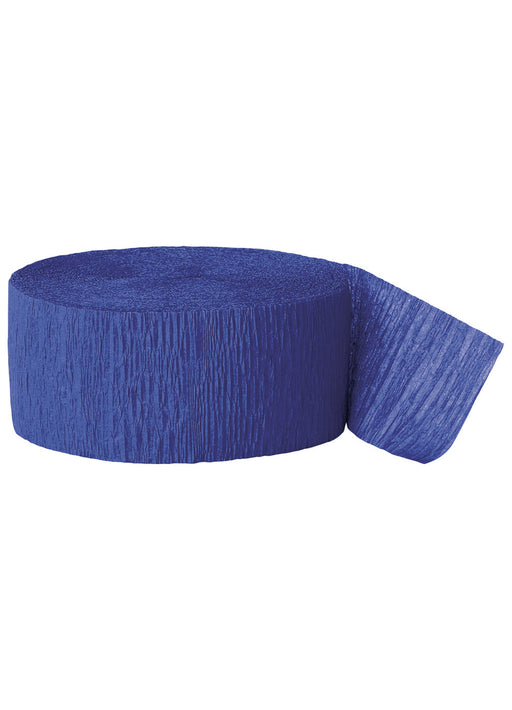Royal Blue Crepe Streamer