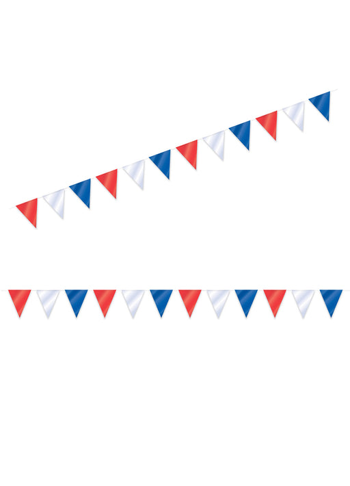 Red, White & Blue Flag Bunting 10m