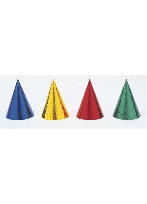 Coloured Party Hats 8pk