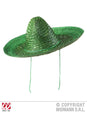 Mexican Straw Green Sombrero