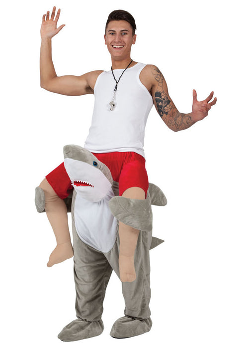 Shark Carry Me Costume Adult