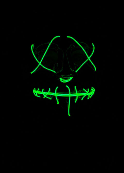Neon Green Light Up Mask