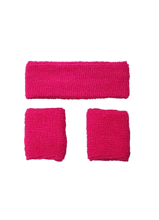 Neon Pink Sweatbands Set