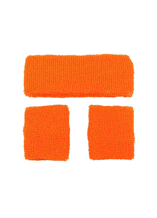 Neon Orange Sweatbands Set