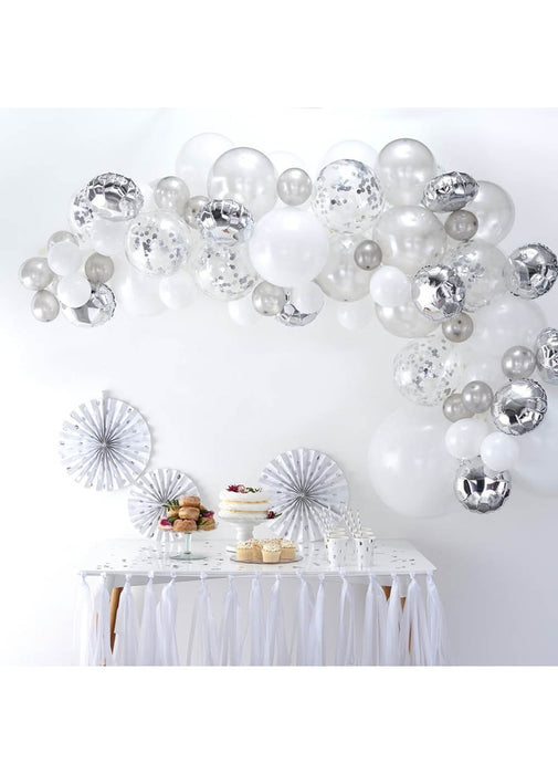 Silver Balloon Arch Kit