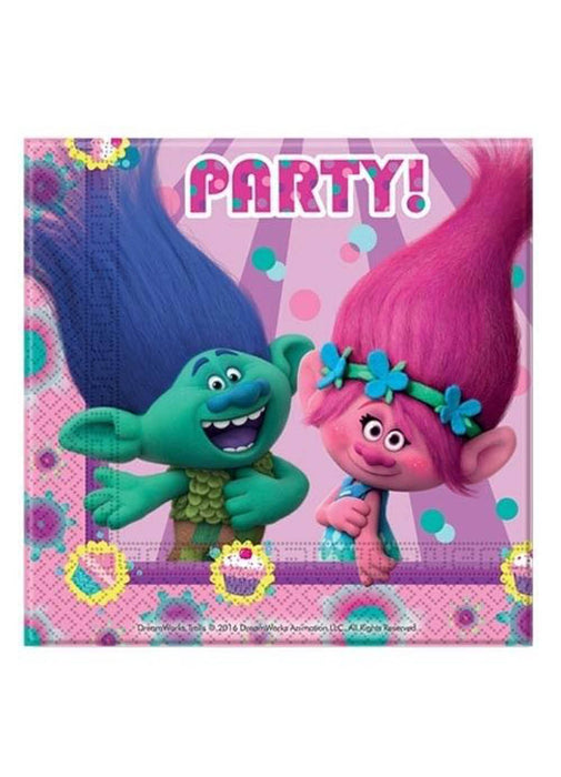 Trolls Party Napkins 20pk