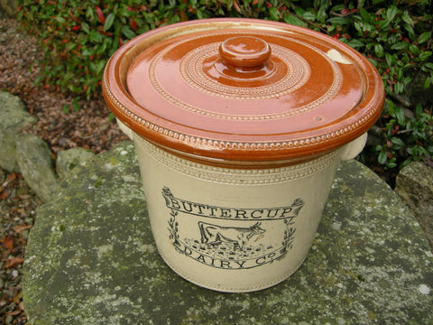 Large antique Buttercup Dairy croc