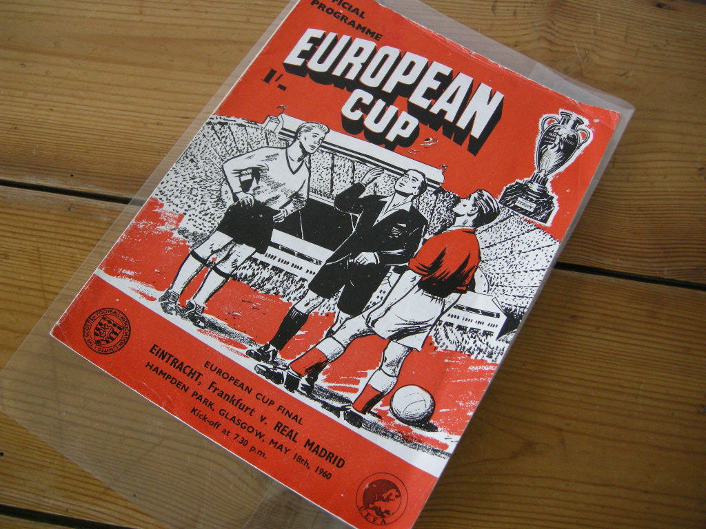 VG 1960 European Cup Final EINTRACHT FRANKFURT v REAL MADRID VG Football Programme