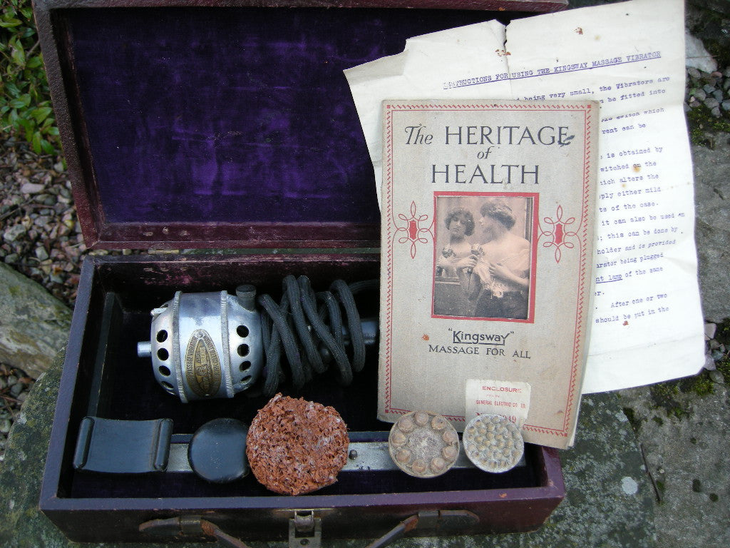 VINTAGE CASED KINGSWAY MASSAGE VIBRATOR WITH INSTRUCTIONS