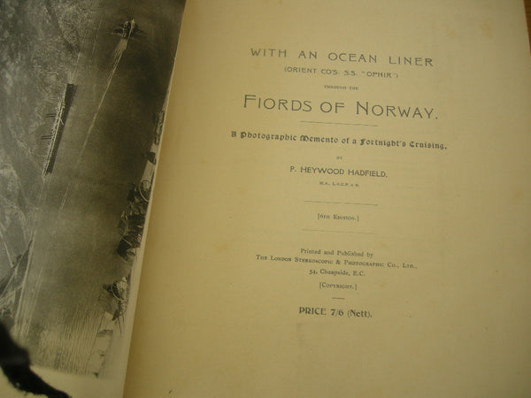 BOOK: Fiords of Norway a cruise on the SS Ophir by Heywood Hadfield