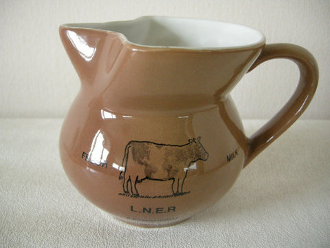 EARLY 2OTH C. LNER EDINBURGH CERAMIC MILK JUG FOR NO. 4 CARRIAGE DINING CAR