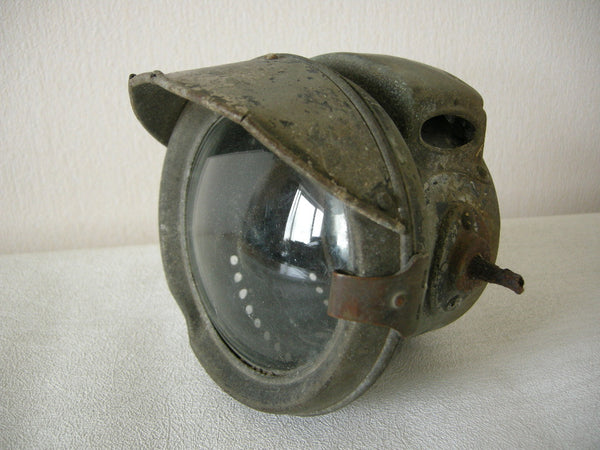 VINTAGE LUCAS NO. 331 CARBIDE ACETYLENE MOTORCYCLE LAMP FOR REFURBISHMENT