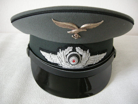 Reproduction WW2 German Luftwaffe officers visor cap in excellent condition