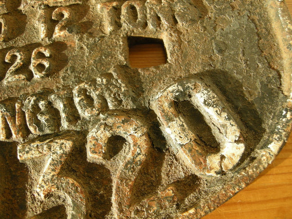 LNER Darlington Railway wagon/carriage cast iron plate dated 1926