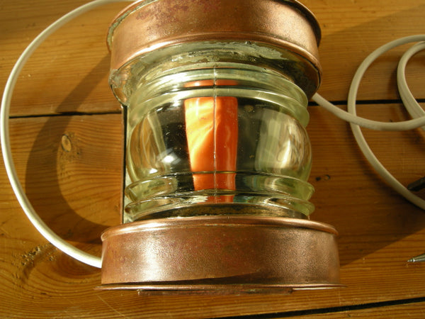 Early 20th Century small copper ships MASTHEAD lamp