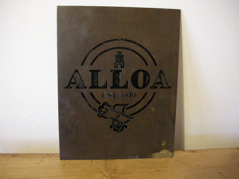 VINTAGE ALLOA BREWERY ADVERTISING PUB SIGN