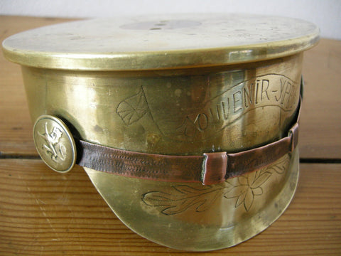 World War 1 Trench Art cap dated 1915