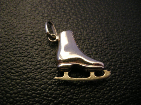 9CT GOLD SKATING BOOT PENDANT OR CHARM