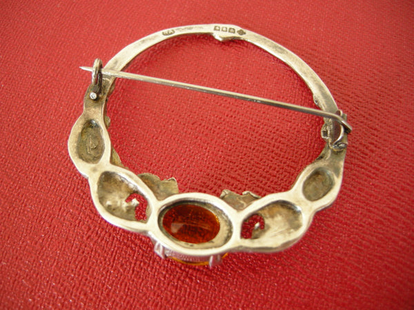 Glasgow silver and citrine brooch by Robert Allison