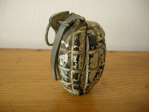 Incomplete, damaged AND SAFE World War 2 British hand grenade