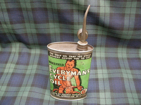 Decorative EVERYMANS CYCLE OIL CAN