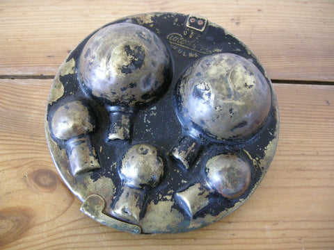 Early 20th century brass car bulbs holder by Autoclipse