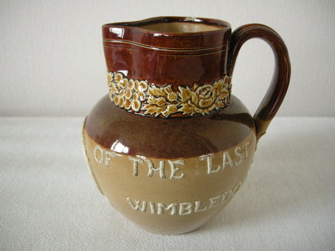 Rare Doulton jug commemorating last meeting of National Rifle Assoc. at Wimbledon in 1889